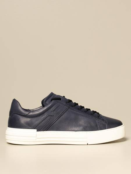 Hogan men: Rebel Hogan sneakers in leather with elongated H