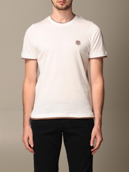 Eleventy: Eleventy cotton T-shirt with embroidered logo