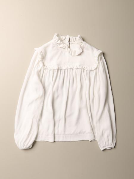 Camicia Monnalisa in viscosa con micro rouches