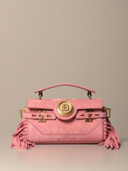BBuzz Baguette Balmain bag in suede with fringes