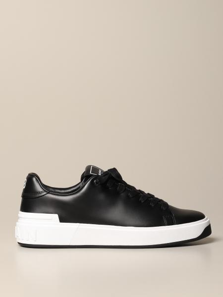 Balmain sneakers in leather with logo