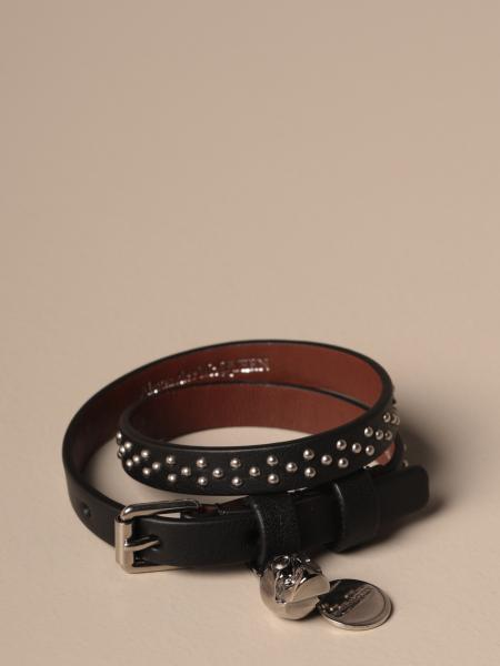 Mcq McQueen bracelet in leather with micro studs