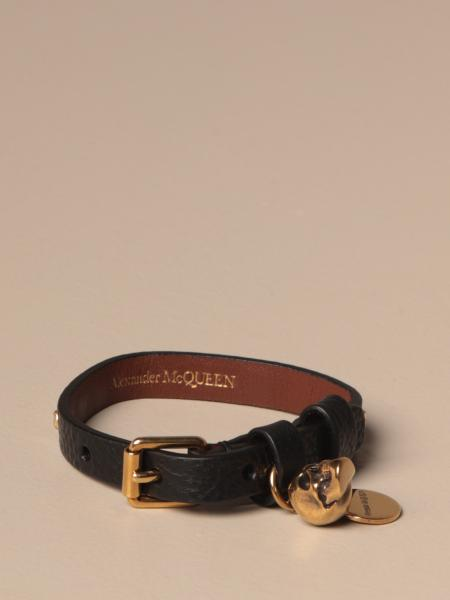 Mcq McQueen leather bracelet with studs