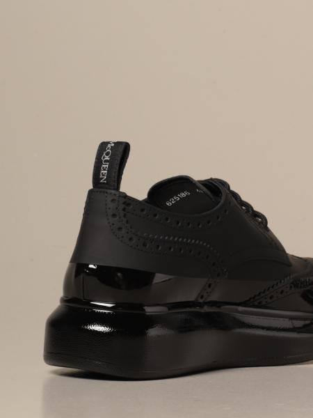 Alexander McQueen derby sneakers in rubber and patent leather