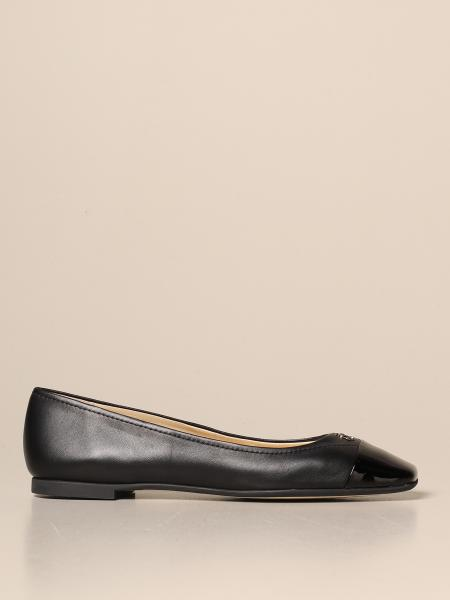 Jimmy Choo ballerina in leather with JC monogram