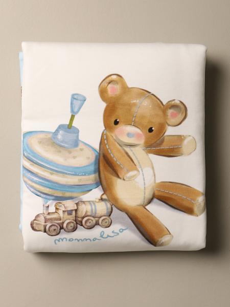 Copertina Monnalisa in cotone con stampa orsetto