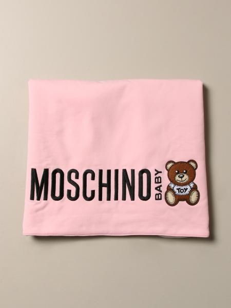 Moschino Baby cotton blanket with Teddy