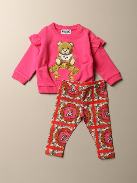 Moschino Baby set sweatshirt + leggings with Teddy