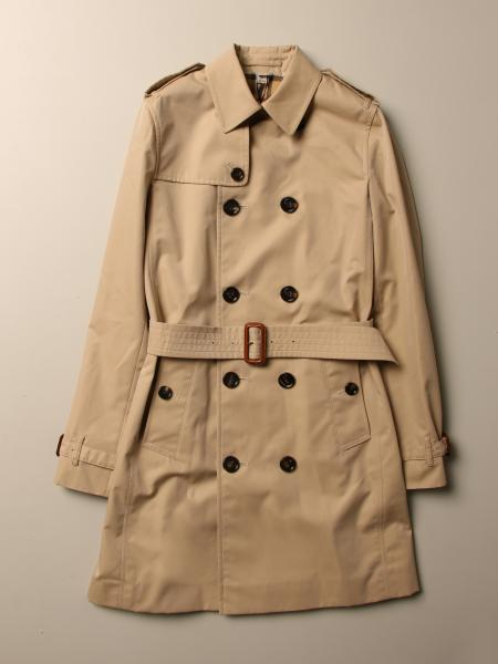 Trench Burberry medio in gabardine di cotone