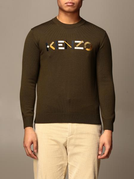 Kenzo: Kenzo wool pullover with color block logo