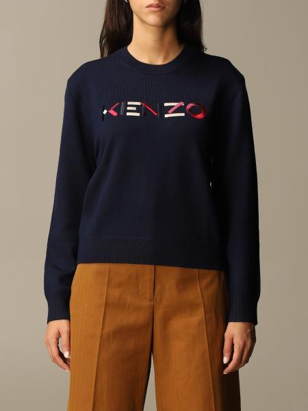 Kenzo: Pullover Kenzo con logo Kenzo color block