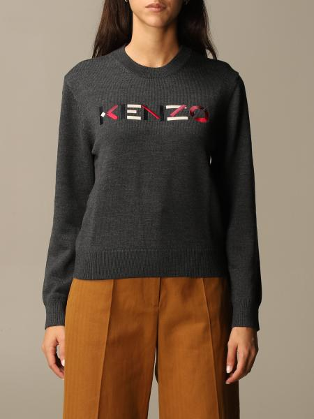 Kenzo: Kenzo pullover with color block Kenzo logo