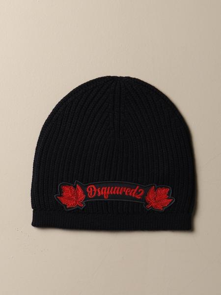 Dsquared2 wool hat with logo patch