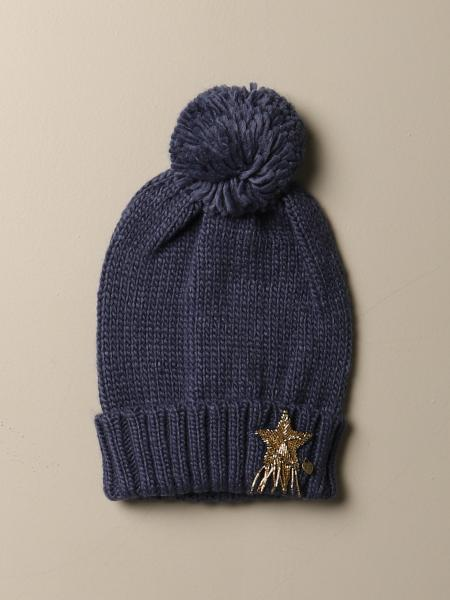 Twin-set hat with star and pompon