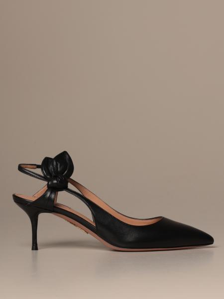 Slingback Aquazzura in pelle cut out