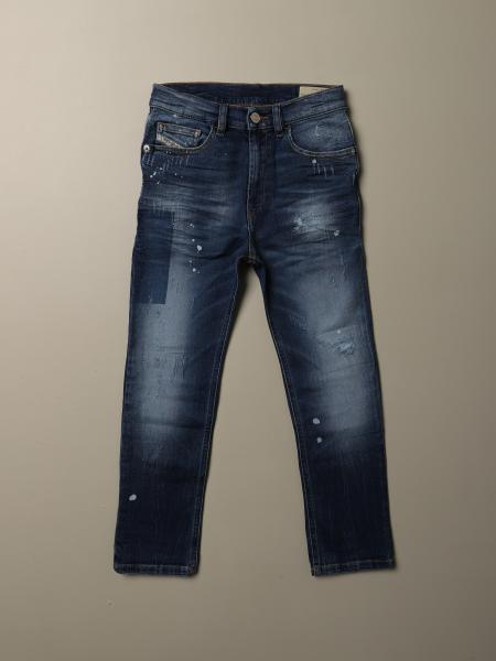 Diesel jeans in denim with micro tears