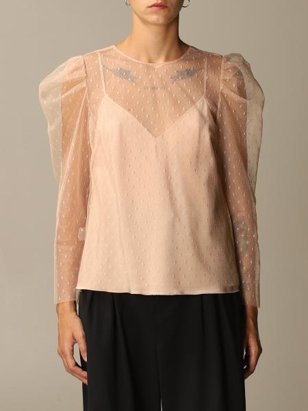 Camicia Red Valentino in tulle point d'esprit