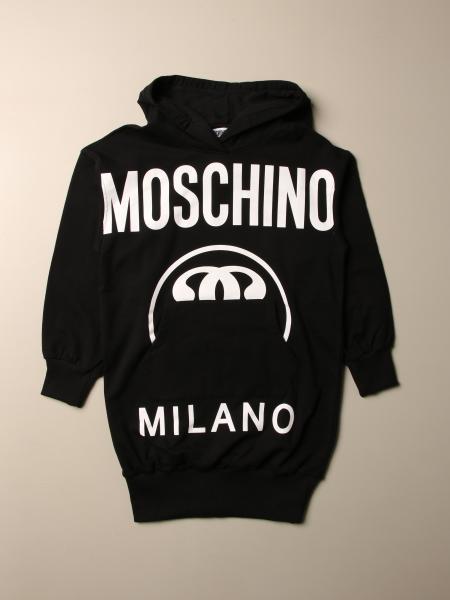 Moschino Kid sweatshirt dress with logo