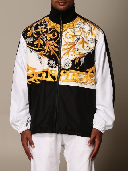 Versace sweatshirt with zip and baroque print