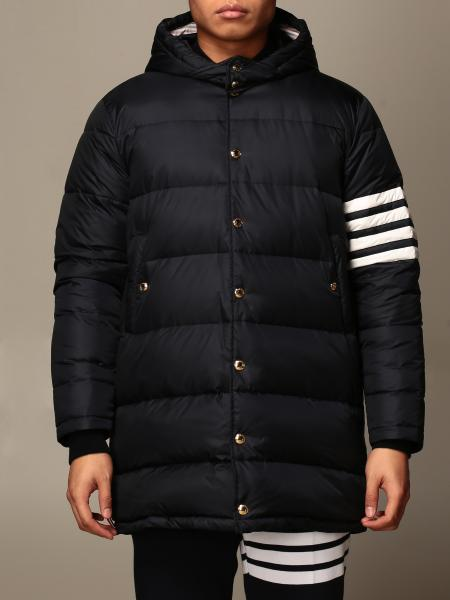 Thom Browne: Thom Browne nylon down jacket with striped bands