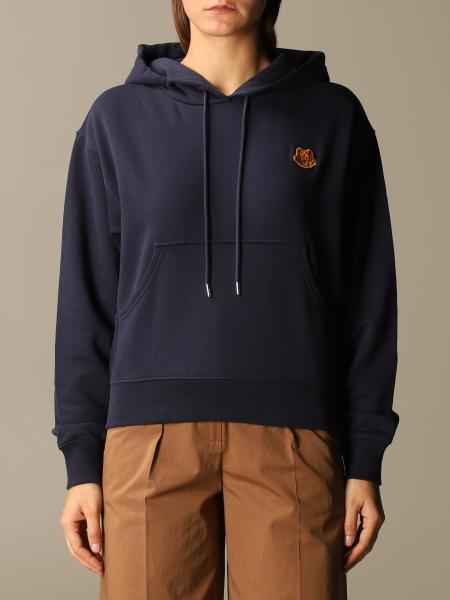Kenzo: Kenzo cotton hoodie with Tiger Kenzo Paris logo