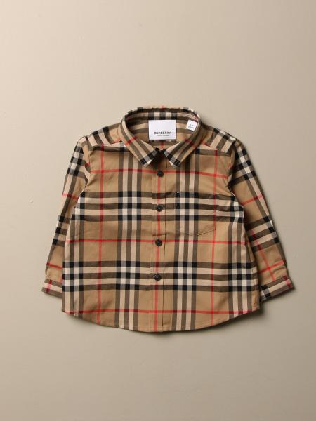 Camicia Burberry in cotone con motivo check