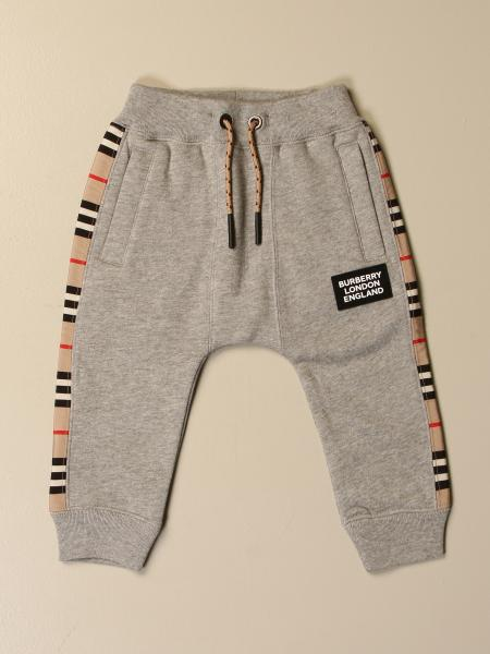 Burberry jogging trousers in cotton with check bands