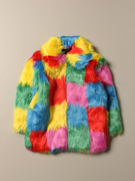 Cappotto Stella McCartney in pelliccia multicolor