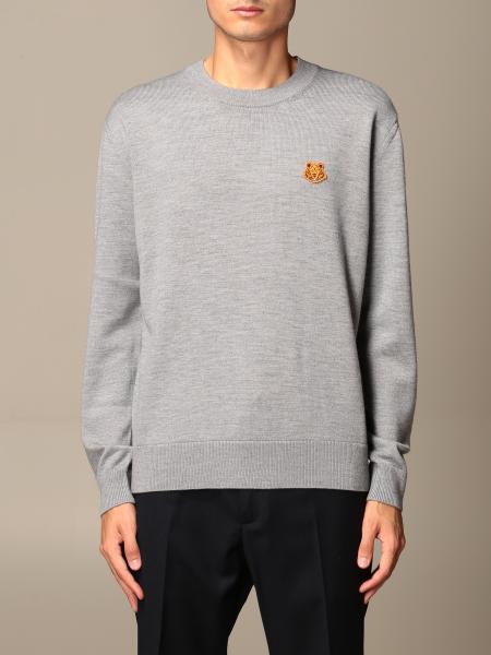 Kenzo: Kenzo wool sweater with mini Tiger Kenzo Paris logo
