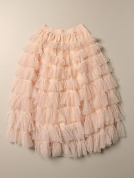 Long Monnalisa skirt in rouches tulle