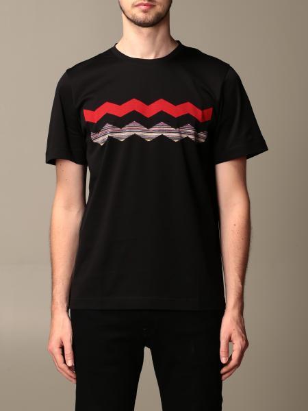 Missoni cotton t-shirt with zig zag pattern