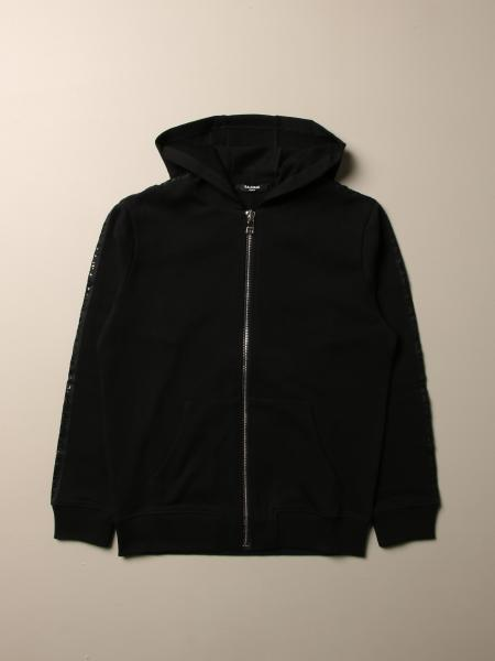 Balmain sweatshirt with hood and zip