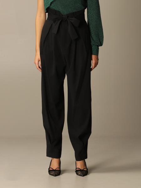 Red Valentino trousers with bow at the waist