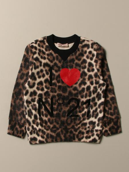 N ° 21 sweatshirt in animalier cotton