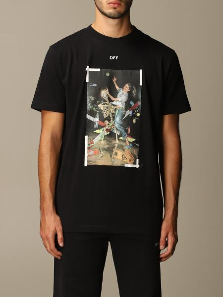 Off White men: Off White T-shirt with Pascal print