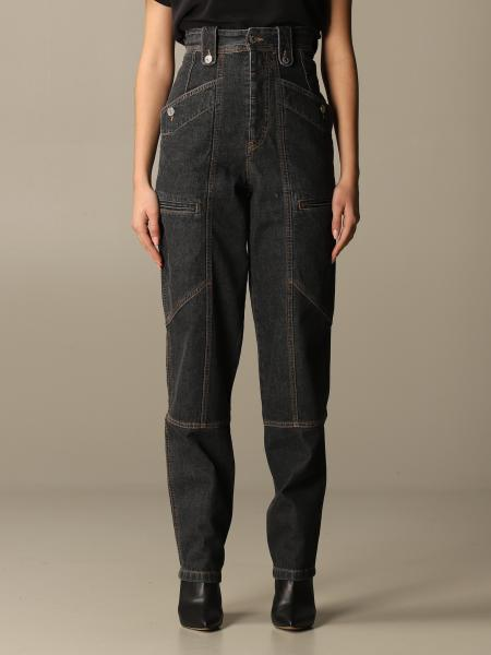 Isabel Marant: High-waisted Isabel Marant jeans with patch pockets