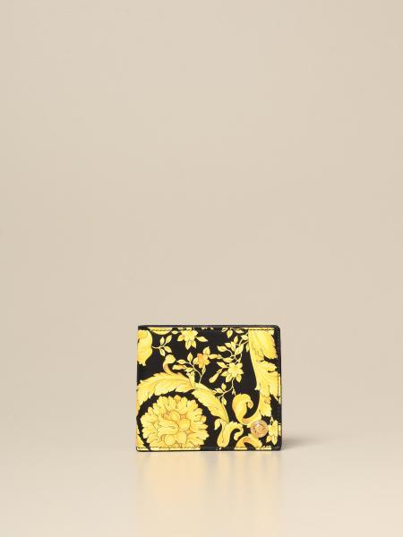 Versace wallet in baroque print leather
