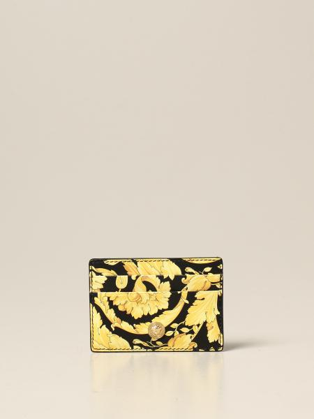 Versace credit card holder with baroque print