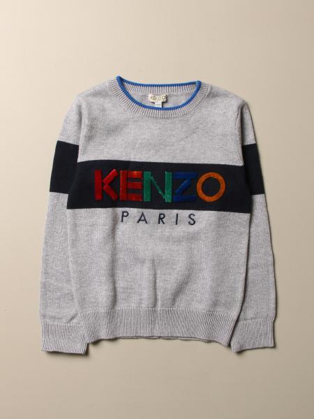 Maglia Kenzo Junior in cashmere e cotone con logo multicolor