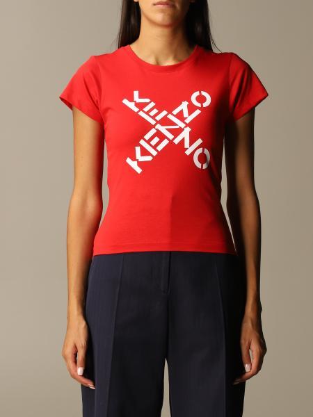 Kenzo: T-shirt Kenzo in cotone con logo Kenzo incrociato