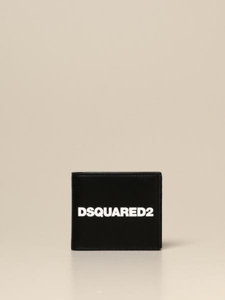 Dsquared2 wallet in leather with print