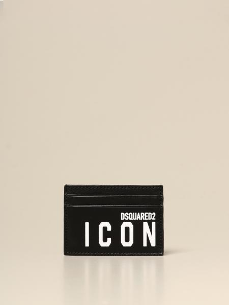Dsquared2 credit card holder in leather