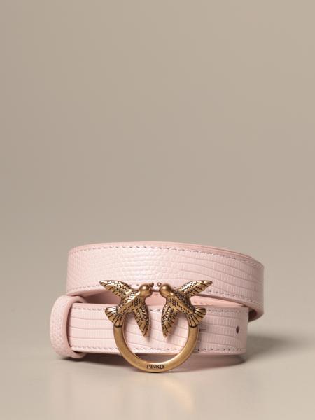 Cintura Barry small 3 Pinko in pelle con stampa rettile