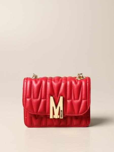 Borsa Moschino Couture in pelle matelassè con logo