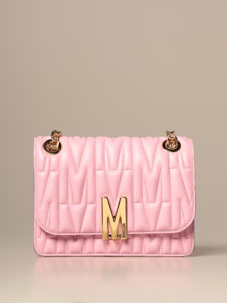 Moschino Couture bag in matelassé leather with logo