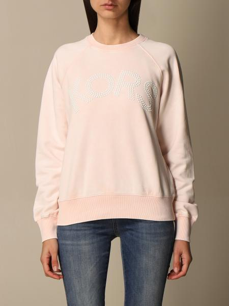 Michael Kors women: Michael Michael Kors crewneck sweatshirt with studs logo