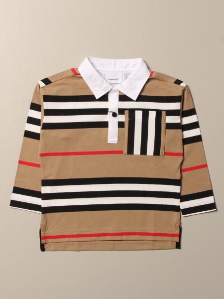 Burberry: Burberry polo shirt in cotton with striped pattern