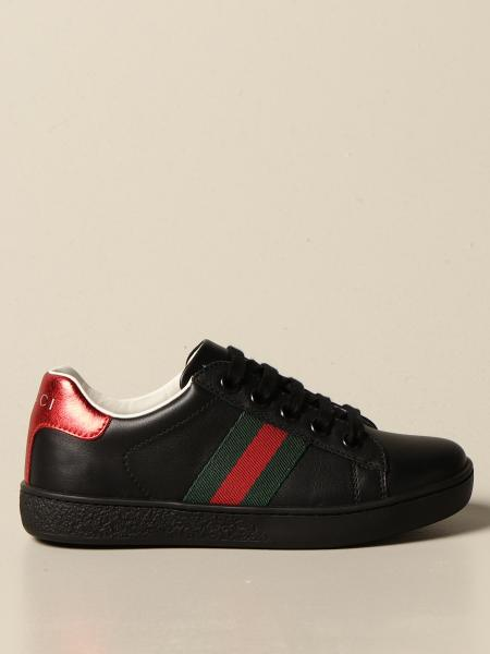 Gucci Ace sneakers in leather with Web bands