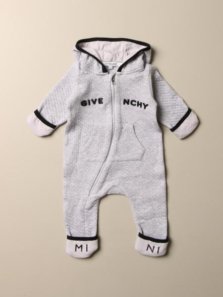 Givenchy footed jumpsuit with hood and logo
