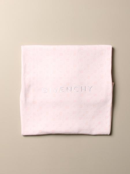 Givenchy cotton blanket with embroidered logo